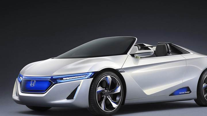 Honda EV-STER Concept In Silver Side Pose